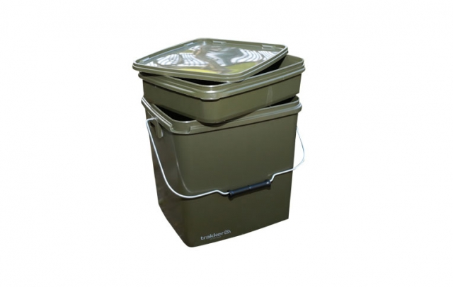 13 Litre Olive Square Container